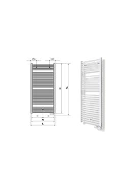 RAD.TOALL.ELECT.AURA 120-050 ZEHNDER Blanco ---PROMO---