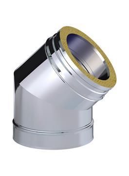 CODO AISL.45º 200 316L/304 DP6