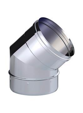 CODO CHIMEN.INOX 45º 150 316L
