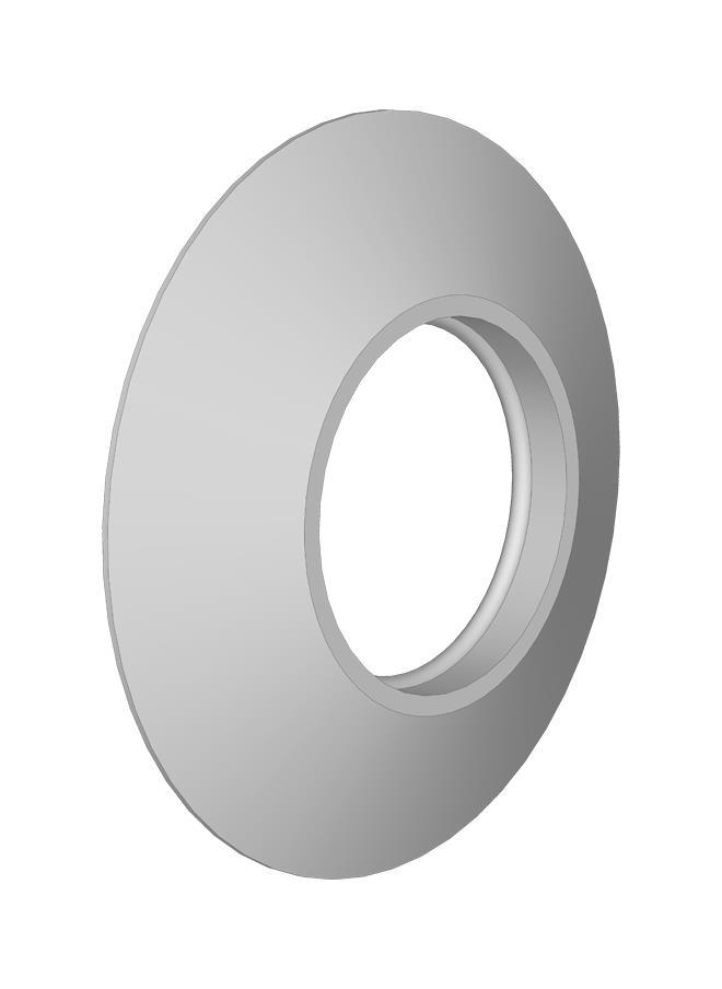 EMBELLECEDOR CIRCULAR DE 125mm PPH SW DINAK