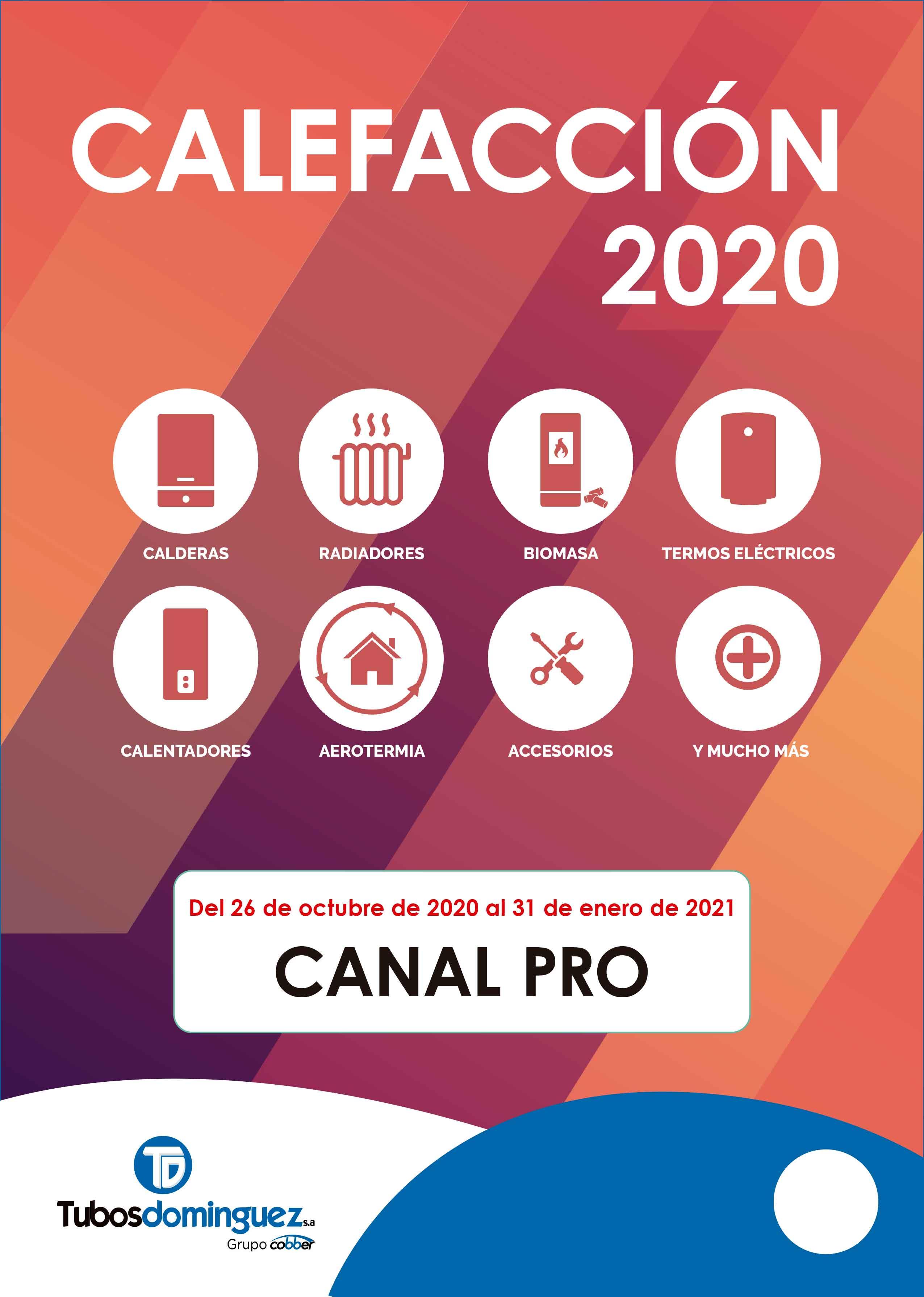 Catálogo de calefacción Tubos Domínguez 2020/2021